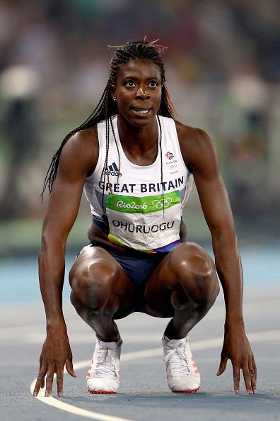 Christine Ohuruogu of Great Britain competes in the Women's 400 meter semifinal…