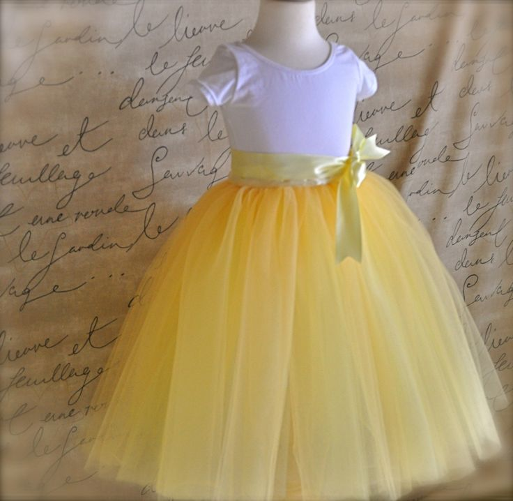 Sunshine yellow tutu for girls Six layers of by TutusChicBoutique