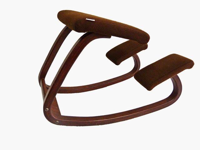 An original, vintage, kneeling chair designed by Peter Opsvik in 1979 for Varier Furniture Balans Variable ergonomic kneeling chair.