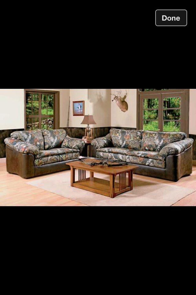 Yes, someday I will be that crazy redneck with camo furniture in my den.
