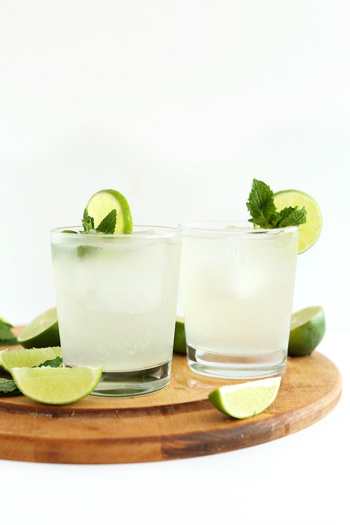 Gin and Tonic cocktails infused with naturally-sweet coconut water for a refreshing, healthier cocktail perfect any time of year.