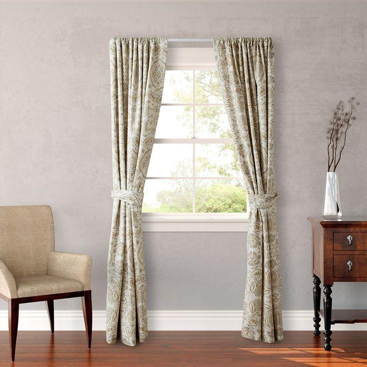 Stone Cottage Belvedere Curtain Pair - 54'' x 84'', Beig/Green (Beig/Khaki)