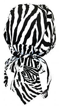 Rocker Bandana Cap - Zebra