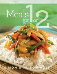 Meals for 1 or 2 by Simon and Alison Holst - The recipes are healthy and wholesome, the photos show what the end result should look like when simply prepared without the bells and whistles.  Worth a look. Review on www.kiwifamilies.co.nz