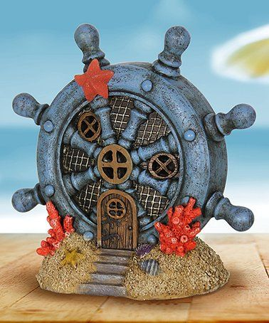 Loving this Ship's Wheel Solar Fairy House Garden Décor on #zulily! #zulilyfinds