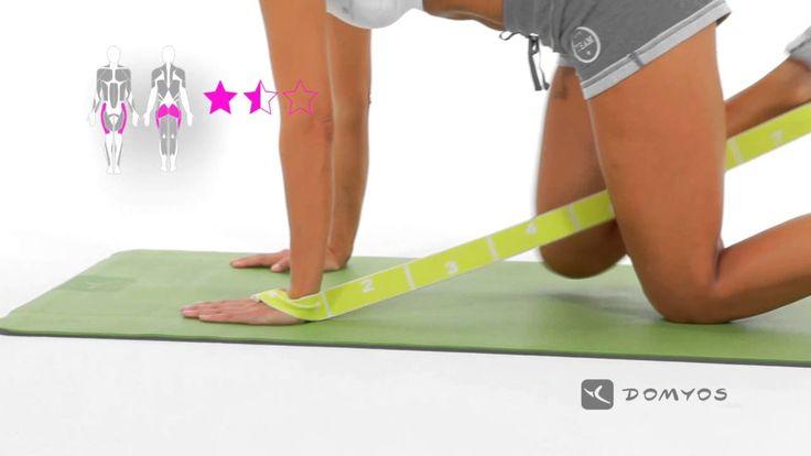 Exercice 8 extension fessiers - Elastiband - Domyos