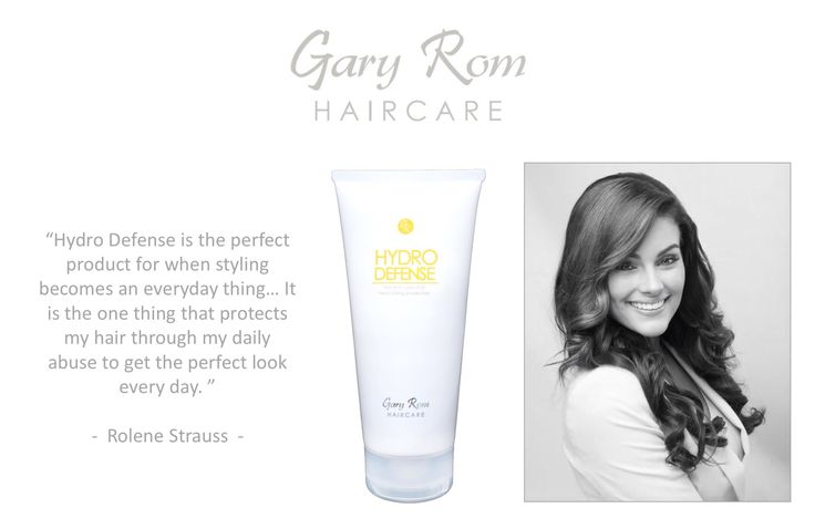 Hydro Defense - heat protection for your hair by Gary Rom Haircare visit: www.garyromhaircare.co.za