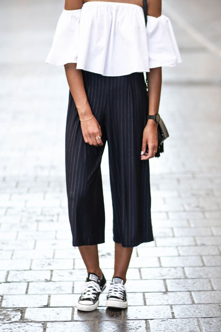 blog mode jupe culotte a rayures bershka