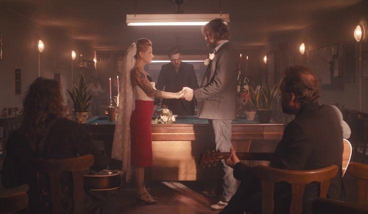 Alabama Monroe (the Broken Circle Breakdown) Felix Van Groeningen Veerle Baetens et Johan Heldenbergh in the wedding scene