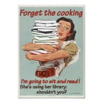 Reading or Cooking Poster by Philbradley