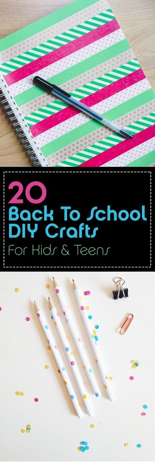 Back to School DIY Crafts for Kids and Teens – 20 …