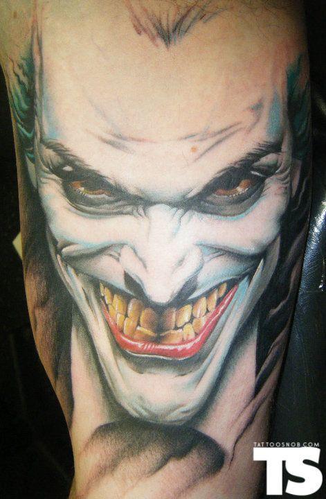 20 coolest comic book inspired tattoos 19 the joker for The joker tattoo