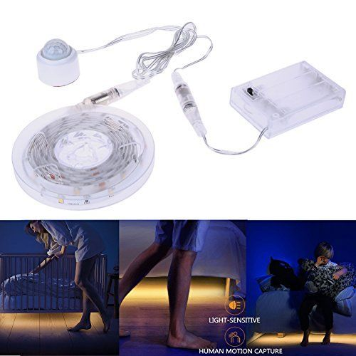 Motion Activated Bed Light, Auledio IP65 Waterproof Flexi