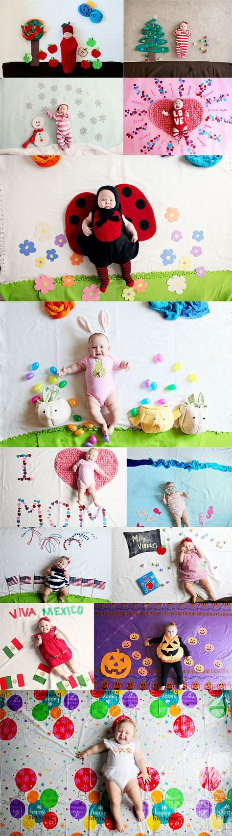 Baby Photo Calendar Ideas : Ideas about month baby on pinterest