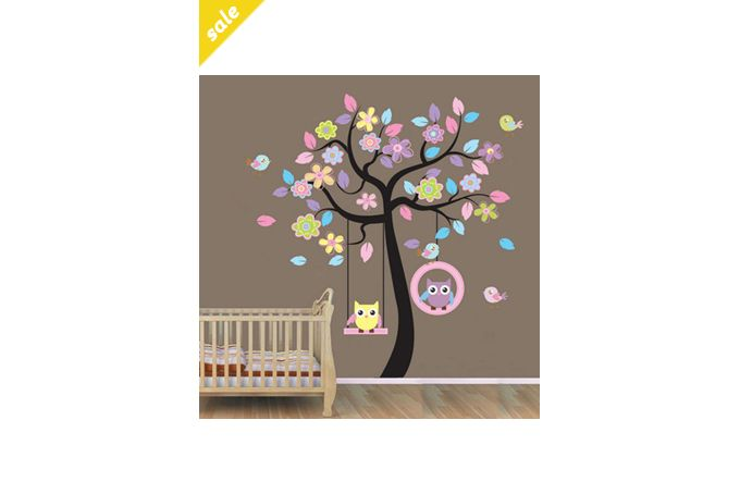 OWL TREE WALL STICKER by theprettycollection