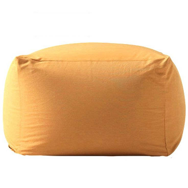 Golden  Color Plain Cotton Sofa Cover For Living Room new Lazy bean bag cover hot sale