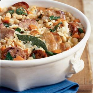 Shortcut Chicken Cassoulet | MyRecipes.com  The best and easiest cassoulet for a winter meal