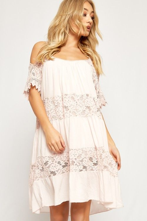 ❂ Sydney Strappy Cold Shoulder Lace A-Line Dress | WearAll ❂ #2017 #fashion #women #summer #photography #cute #sexy #print #OOTD #Outfit of the Day #style #inspiration #ss17 #lace #boho #bardot #strappy #party #off shoulder #midi  #mini #casual #baggy #dress