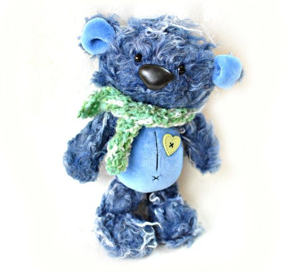 Stuffed Bear Christmas Gift Stuffed Toy Soft Animal by KatkaCrea