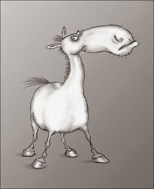 Лошадь рисунок прикольный, папе