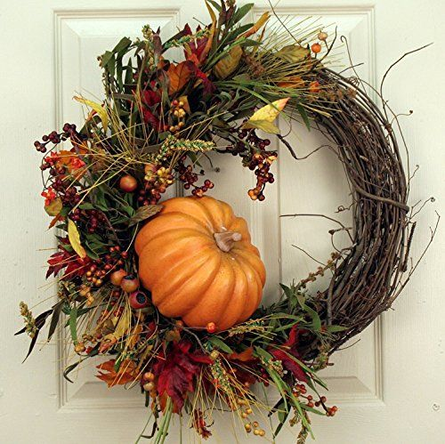 Fall Fields Pumpkin Wreath | The Gift Central