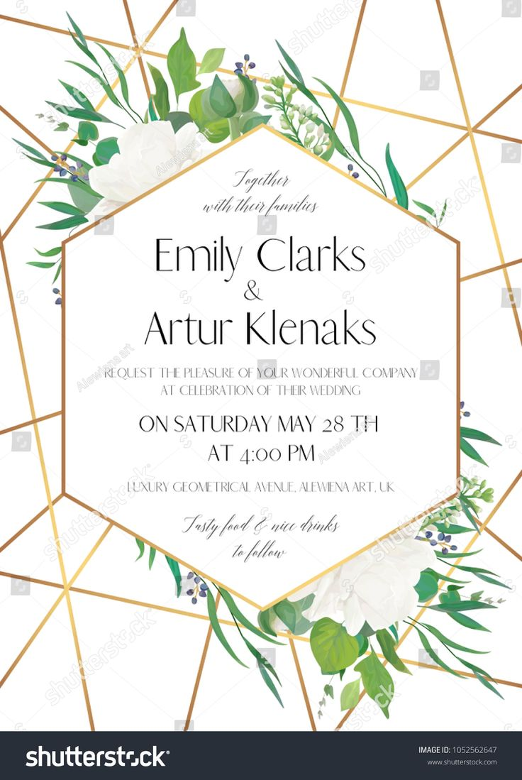 Wedding Invite Save The Date Card Delicate Design With