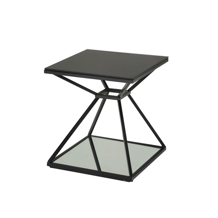 Sunpan Wedge End Table (Wedge End Table), Black