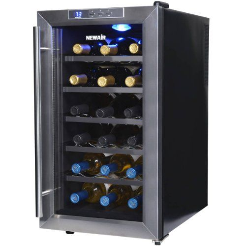 Quick and Easy Gift Ideas from the USA  NewAir AW-181E Space Saver 18 Bottle Thermoelectric Wine Cooler, Stainless Steel http://welikedthis.com/newair-aw-181e-space-saver-18-bottle-thermoelectric-wine-cooler-stainless-steel #gifts #giftideas #welikedthisusa