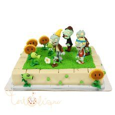 Детский торт Зомби против растений