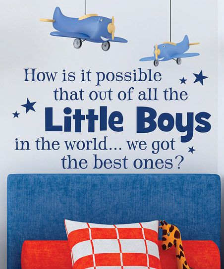 Navy 'Best Little Boys' Wall Quote