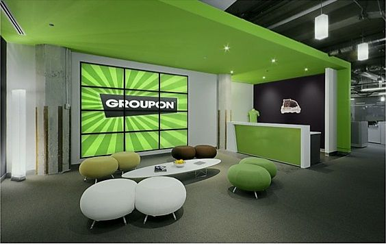 Green reception area