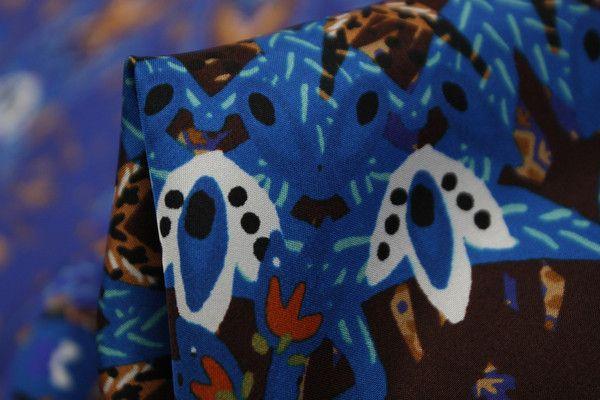 Blue Marmalade - Crepe De Chine Silk - Tessuti Fabrics - Online Fabric Store - Cotton, Linen, Silk, Bridal & more