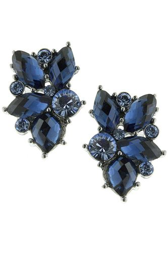 Sapphire Whimsy Button Earrings