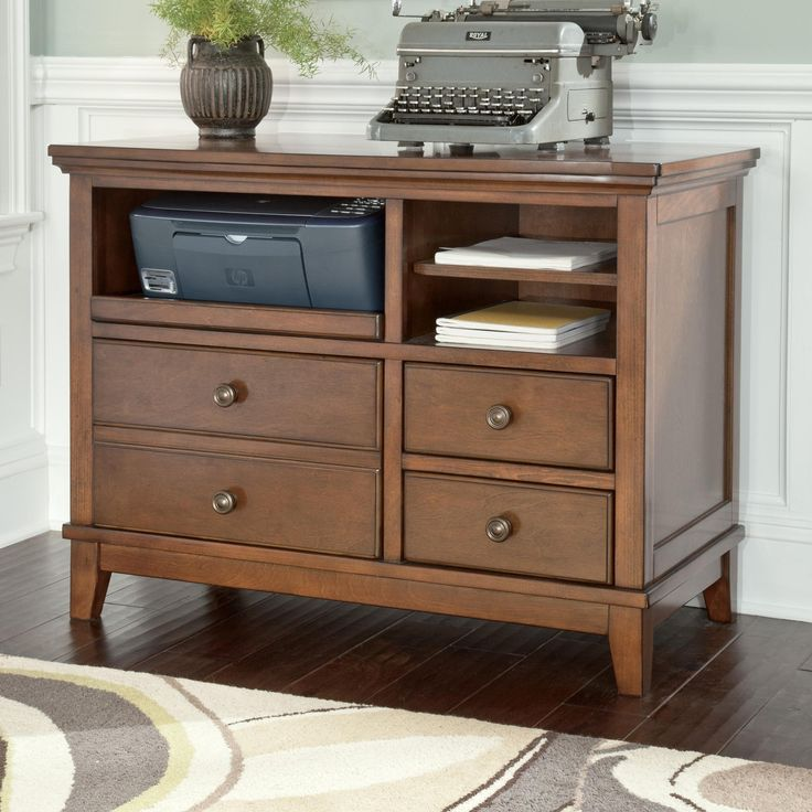 Burkesville Home Office Cabinet With Pull Out Tray And Birch Veneer By  Signature Design By Ashley At Northeast Factory Direct