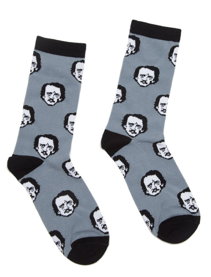 Edgar Allan Poe-ka Dot literary socks – Book Riot Store