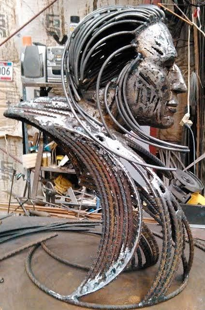 Bennett Brien Sculpture done in rebars   Bennett Brien's ...