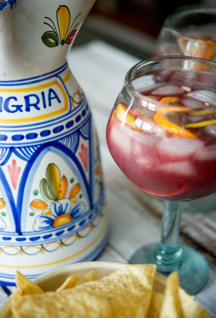 Red Wine Sangria made with citrus fruit, brandy and triple sec is a cool and refreshing summertime drink.