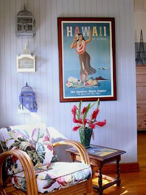 Lanterns brights n dark woods again! Would do without the Hawaii poster, bit kitschy for me