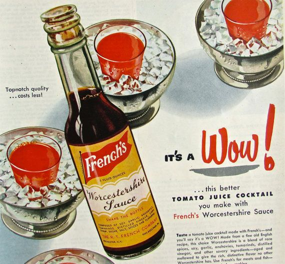 Original Vintage Magazine Ad French S Worcestershire Sauce 1950 Magazine Print Adver 1950 Mid Century Retro Food