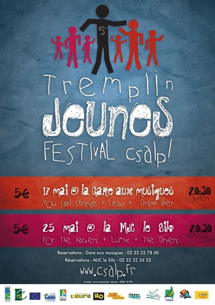 Tremplin du festival Ça sonne à la porte ce soir, à la Gare aux Musiques de #Louviers