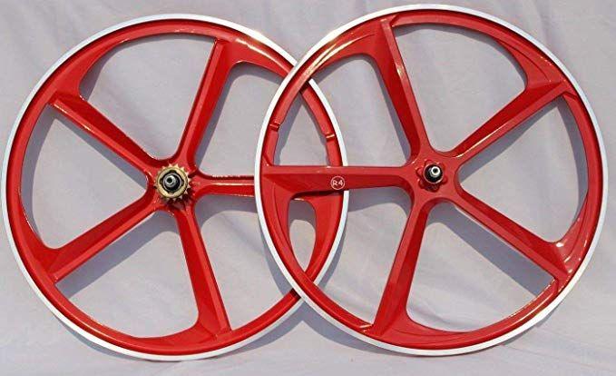 "20/"" Bicycle Black Plastic Front Bike or Trike Wheel 6 Spoke BMX MTB Chopper"