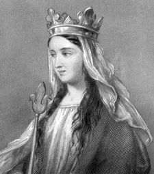 Matilda of Flanders (c. 1031 – 2 November 1083), daughter of Count Baldwin V of Flanders, was the wife (and distant cousin) of William the Conqueror and, as such, Queen consort of the Kingdom of England. She bore William ten children (4 sons and 6 daughters), including two kings, William II and Henry I. She gave the Bayeux Tapestry to Caen Abbey.: