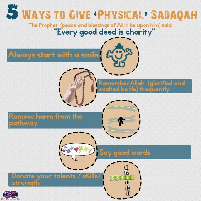 5 ways to sadaqa/ charity