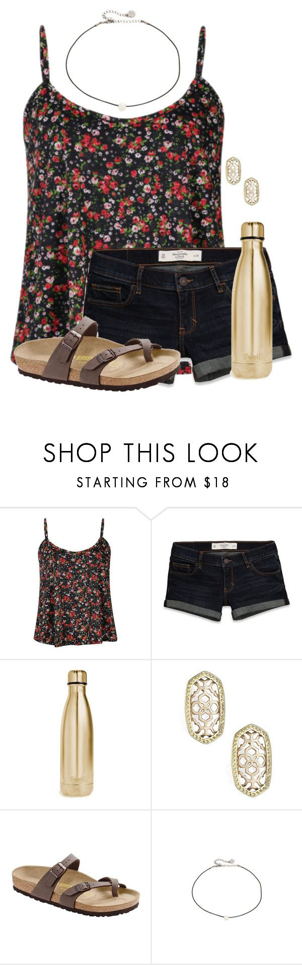 """""""Tennis bus ride is LIT"""" by auburnlady ❤ liked on Polyvore featuring Influence, Abercrombie & Fitch, S'well, Kendra Scott, Birkenstock and Cloverpost"""