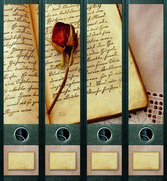 Lever Arch File Label   Book and Rose AJ440