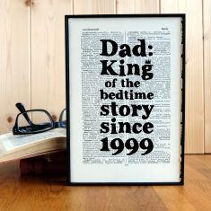 Personalised bedtime story print