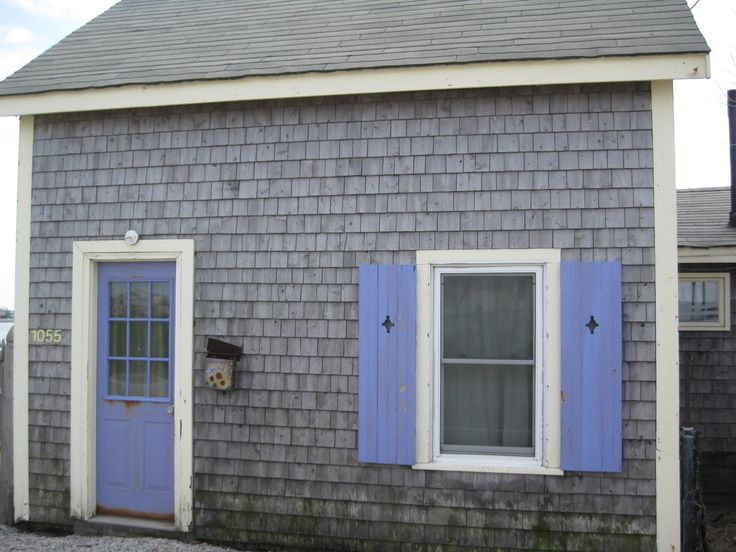 grey house periwinkle door - Google Search