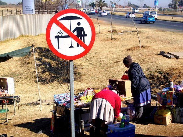 Only in South Africa! You gotta love it. Do exactly as you want, when you want, how you want and bugger the authorities!