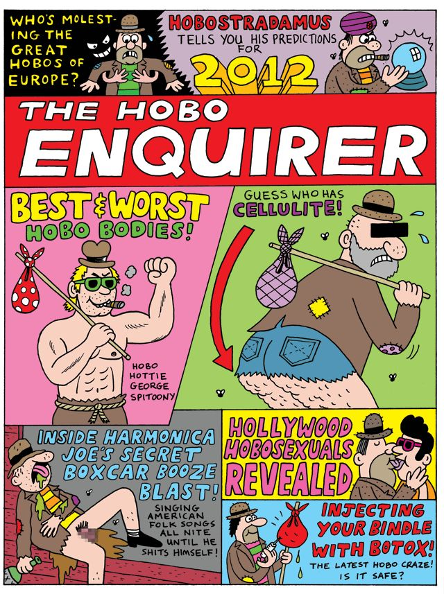 The Hobo enquirer. Tags: hobo, comics, beano, mags, junk, good read, books