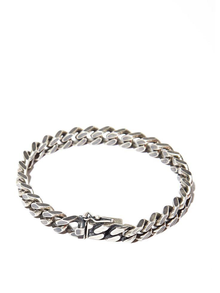 Saint Laurent Mens Silver Chain Bracelet Jewelry